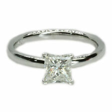Solitaire Excellent Cut White Gold SI2 Fine Diamond Rings