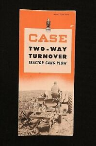 "1947 J. I. CASE ""TWO-WAY TURNOVER TRACTOR GANG PLOW"" SALES BROCHURE VERY GOOD"