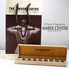 Italian Made Baltic Cognac Amber in 9ct Gold Bracelet- GBR002  RRP £1200!!!