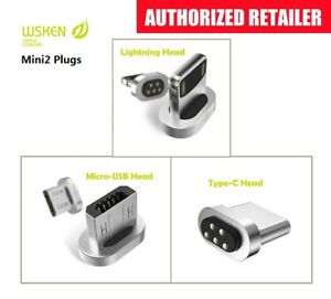 WSKEN magnetic phone charger charging cable or plug For Type C, Apple, Micro-USB