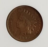 1908-S Indian Head One Cent 1c ANACS VF35  Check It Out!!! KM# 90a #AA240