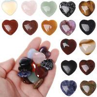 Chakra-Heilstein Edelstein Anhänger Herzform Kristall Natürlicher Quarz