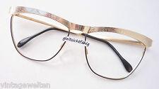 Große Cateye Brille gold-schwarz Hingucker Meitzner Favara Gestell size L