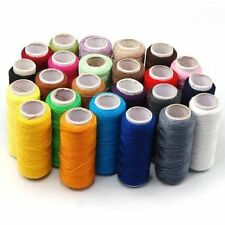 24 Colour Spools Best Quality Sewing 100% Pure Cotton Embroidery Thread Reel
