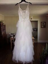 JOVANI~White TIERED Sequin BEADED Homecoming PROM Pageant FORMAL Fairy DRESS~2