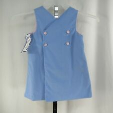 Kellys Kids Corduroy Dress Vintage Size 3 Fully Lined Jumper Double Breasted