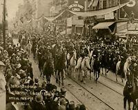 1st Ever 1912 Calgary Stampede Parade Black & White  8 X 10 Photo Free Shipping