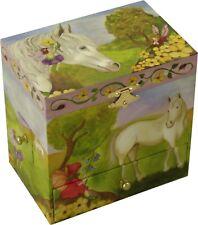 Fairy Horse Childrens Musical Jewellery Box Girls Wind Up Trinket Music Box Kids