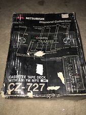 Mitsubishi Diamond Collection AM/FM A/R Cassette Tape Deck CZ-727 RARE VINTAGE