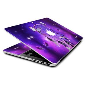 Skin Wrap for MacBook Pro 15 inch Retina, Dreamcatcher Butterflies Purple