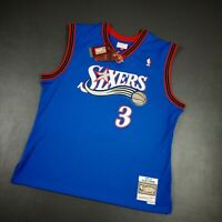 100% Authentic Allen Iverson Mitchell Ness Sixers 99 00 Swingman Jersey Size XL