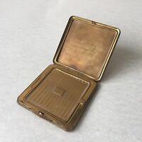 Vintage EIN Golden Seal Metal Compact Powder Made In Great Britain