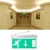 Green Emergency Exit Indicator Light LED Lighting Sign Evacuation Running Lamp