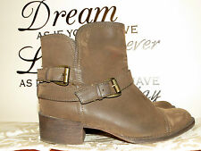 ROCKET DOG Suede Silky LEATHER High Heels Cowboy Boots Womens Shoes Size 6.5