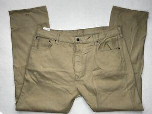 Levis 501 Men's 40x32 Button Fly Denim Blue Jeans Light Brown Tan Sand
