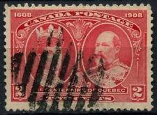 Colonie du canada 1908 SG#190, 2c carmin québec tercentenary utilisé #D37409