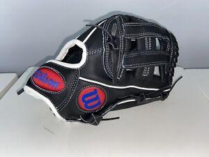 "Wilson A450 12"" Infield Baseball Glove Youth Infield Model Black"