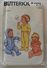 Butterick 3950 - Babies Top, Pants, Romper, coveralls - Size Small - UNCUT