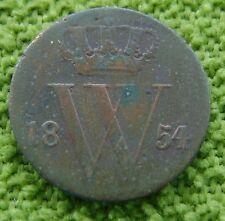 Nederland - The Netherlands 1854 halve cent, 1/2 cent, Willem 3. KM# 90.