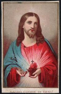 Holy card antique de Jesus andachtsbild estampa image pieuse santino