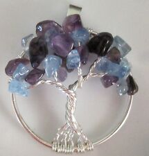 Necklace Pendant Silver Birthstone Family Tree Geneology Gift Custom Sterling