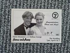 More details for home and away dieter brummer & melissa george wedding rarevintage cast fan card