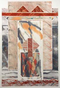 "Nancy Strong ""10792-13"" Original Monoprint Hand Signed Fine Art 1989 Make Offer!"
