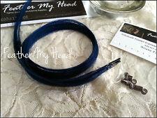 "(5) Blue 20"" 100% Human Hair Extensions Keratin Stick I Tip DIY Kit W/Beads"