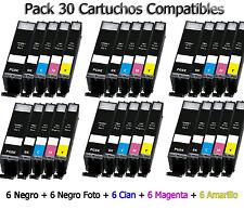 30 cartuchos de tinta para Canon PIXMA ip7250 mg5450 mg5550 mg6450 mg6650 mg7550