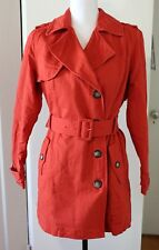 NWOT Brooklyn Industries Women's Trench Coat Jacket Burnt Orange Size Medium