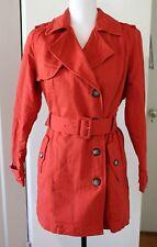NWOT Brooklyn Industries Women's Trench Coat Jacket Burnt Orange Size Medium