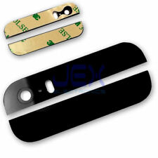 Black Rear Top/Bottom Glass with Camera lens + Glue for Iphone 5S/SE Upper Lower