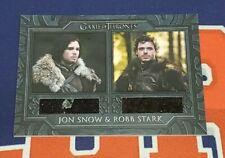 2020 The Complete Game of Thrones DC1 Jon Snow Robb Stark Cloaks Costume Card