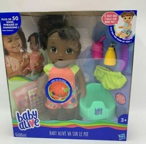 Baby Alive Va Sur Le Pot French Speaking Doll With Accessories