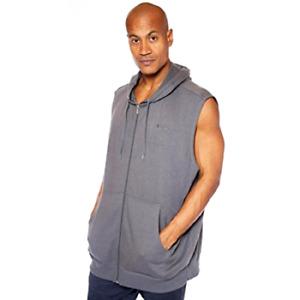Champion Men's Big & Tall French Terry Sleeveless Hoodie Sweatshirt Full Zipper