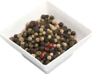 Pepper Mill Mix whole-Pink, green, white and black peppercorns, The Spice People