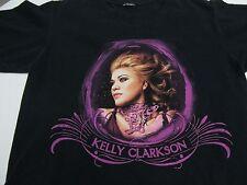 Kelly Clarkson Licensed 2005 Tour T Shirt Breakaway Lyrics Size S/M Black Purple