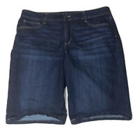 St. John's Bay Denim Bermuda Shorts Size 18