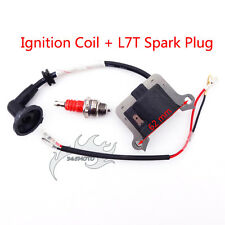 Pocket Bike Ignition Coil Spark Plug L7T For 33 43 49 cc Goped Scooter Mini Moto