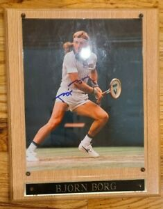 Tennis Player Bjorn Borg autograph - Signed photo in plaque.