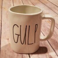 "Rae Dunn ""GULP"" Mug Coffee Tea Farmhouse Artisan Collection Magenta NEW"