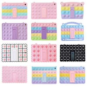 For iPad 7/8th Air 3 4 Mini Pro 11 9.7 Pop Fidget Toys Push It Bubble Case Cover