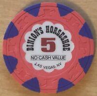 BINION'S HORSESHOE $5 NCV OBSOLETE 1995 CASINO CHIP LAS VEGAS, NV. TCR #N2673