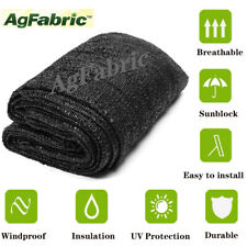 AgFabric 70% Uv Sunblock Shade Cloth for Garden Plant cover Black Greenhouse