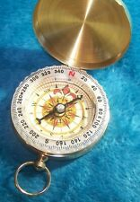 Compass Camping Hiking Portable Brass Pocket Golden Navigation Get it Fast