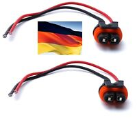 Flosser Wire 9448 Pigtail Female H16 64219 Two Harness Fog Light Bulb Socket Fit