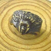 Bronze RING Antiques Ancient Rare ROMAN GORGON MEDUSA