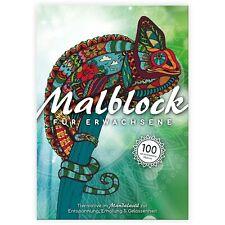Mandala großes Malbuch für Erwachsene 100 Motive Tiere Premium Ausmalbuch A4