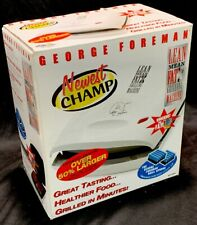 George Foreman 36 sq in. Nonstick Electric Grill White GR11WSP3 Newest Champ NIB
