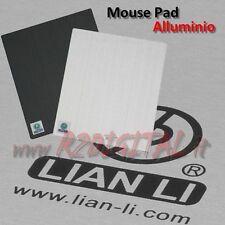 TAPPETINO MOUSE PAD LIAN LI M2 PT-M2B ALLUMINIO GAMING COMPUTER NOTEBOOK PC PAD